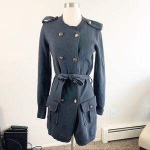 Ann Taylor double breasted belted cardigan